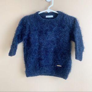 Mayoral fuzzy navy blue sweater size 5 girl